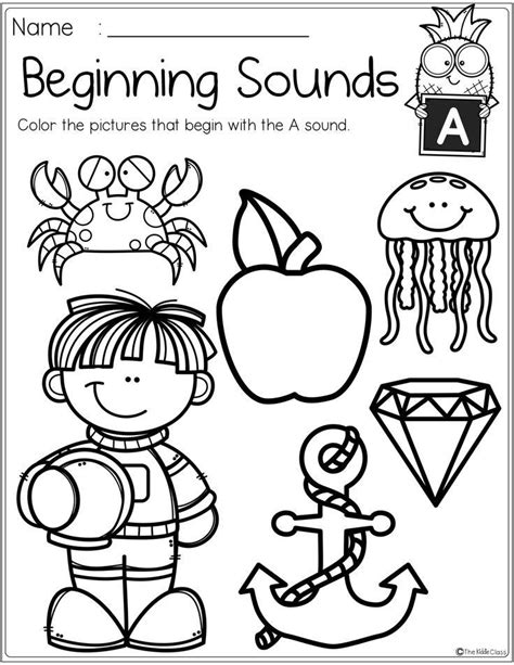 alphabet beginning sounds printables beginning