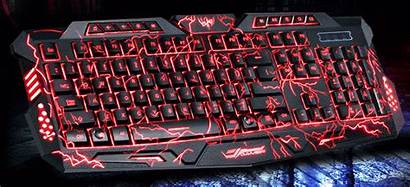 Keyboard Gaming Wired Backlit Colors Crack Backlight