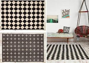 Tapis Graphique Noir Et Blanc : tapis graphique noir et blanc id es de d coration int rieure french decor ~ Teatrodelosmanantiales.com Idées de Décoration
