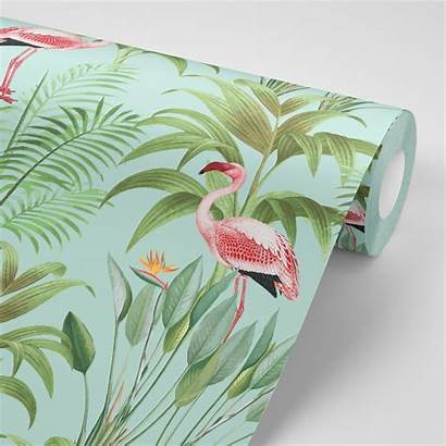Flamingo Tropical Peel Stick Glam