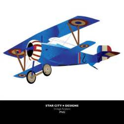 Vintage Airplane Clip Art