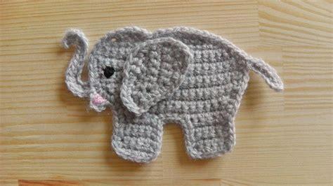 crochet elephant how to crochet an elephant application applique youtube