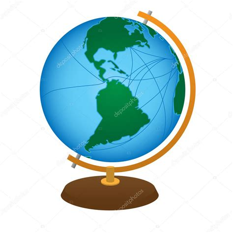 foto de Globe terrestre Image vectorielle Genestro © #5122238