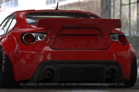 subaru brz ducktail spoiler aerodynamics evasive motorsports
