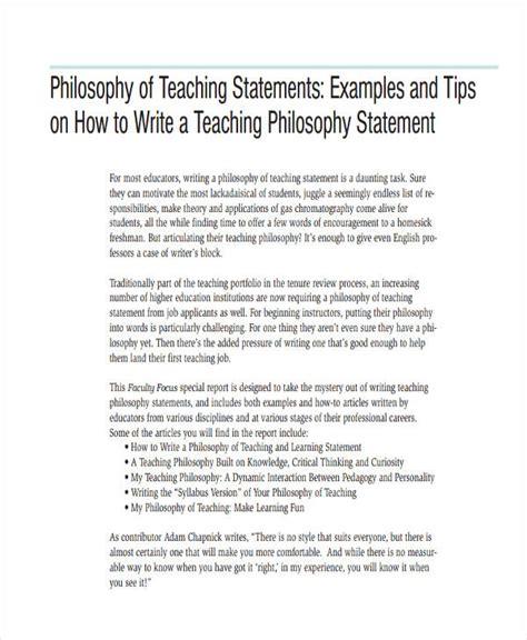 write  teaching statement   faculty job