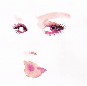 watercolor studies- face-0716 - illustration - michellepam ...