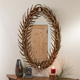 Oval Mule Deer Antler Fork Mirror