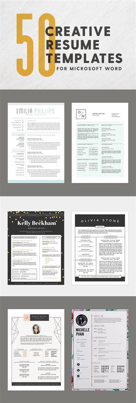 innovative artistic microsoft word resume templates