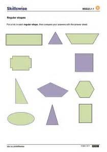 Regular and Irregular Shapes Worksheet