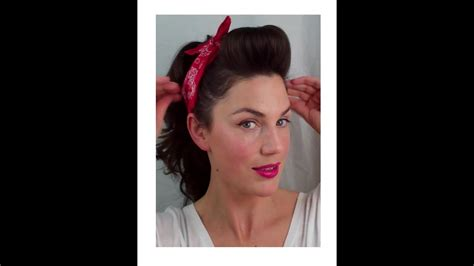 Retro 50s Hairstyles by 6 Pin Up Looks For Beginners And Easy Vintage