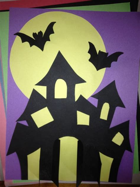 haunted house collage craft  kids  kids crafts