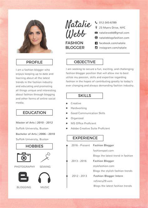 Fashion Designer Resume by Fashion Resume Templates Emmamcintyrephotography