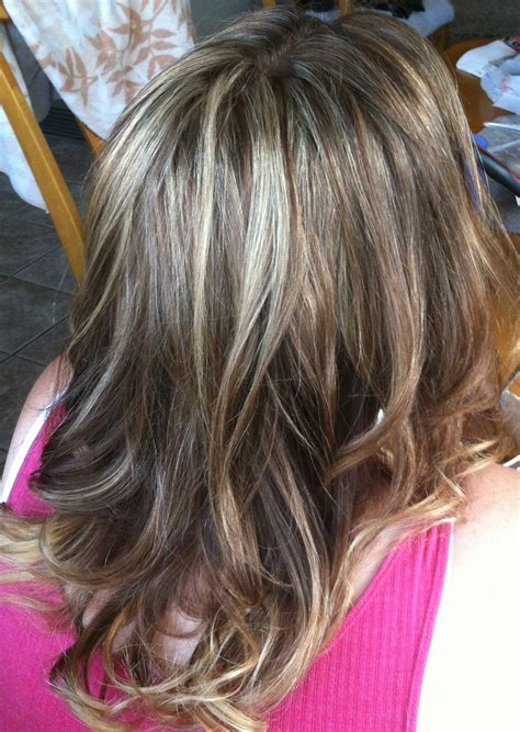 blend high   lights  grey hair style