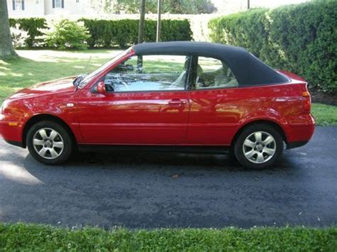 volkswagen convertible cabrio sell used 2001 volkswagen cabrio gls convertible 2 door 2