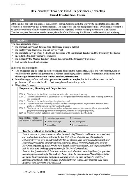 ifx evaluation forms new 2013 1 by shelley wiebe 734   page 1
