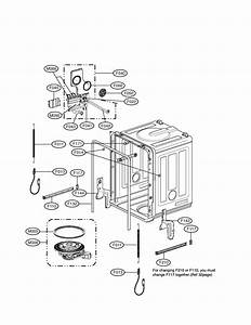 Tub Assembly Diagram  U0026 Parts List For Model Ldf6920bb Lg