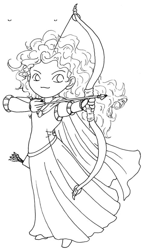 Coloring Pages Disney by Posing Of Princess Merida Brave Coloring Pages Merida