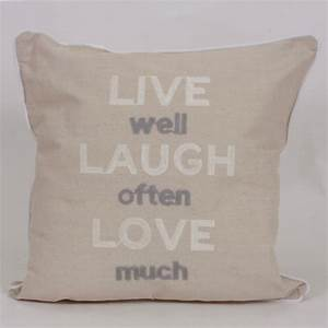 Live Laugh Often Love Much : live well laugh often love much cushion harry corry limited ~ Markanthonyermac.com Haus und Dekorationen
