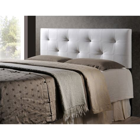 Fabric Headboard by Baxton Studio Kirchem White Modern Upholstered Headboard