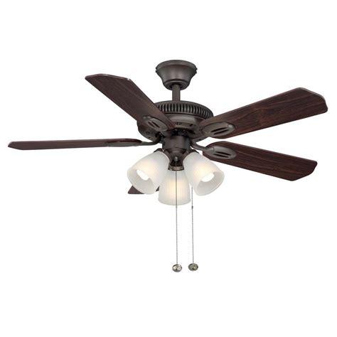 oil rubbed bronze ceiling fan hton bay glendale 42 in indoor oil rubbed bronze
