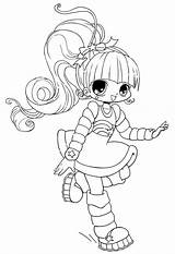 Coloring Chibi Anime Character Characters Template Haired Colour Adult Coloringsky Pixels Mobile Devushki Raskraski Larger Dynu Credit Colorear sketch template