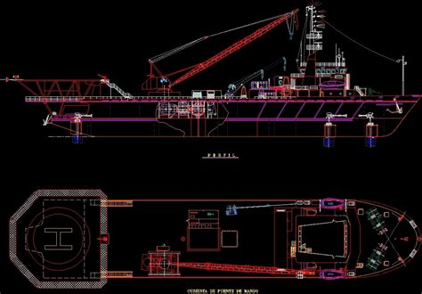 boat crane dwg plan for autocad designs cad