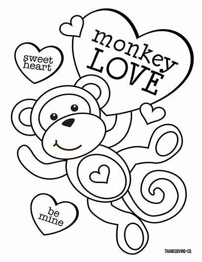 Coloring Pages Valentine Valentines Number Dltk Popular