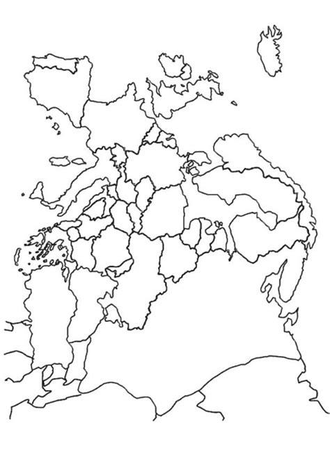 Europa Kleurplaat by Kleurplaten En Zo 187 Kleurplaat Landkaart Europa