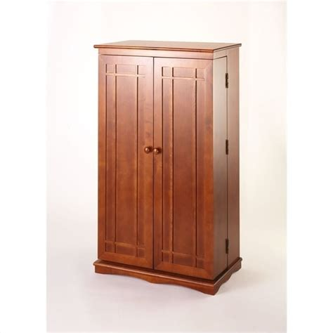 leslie dame media cabinet cd dvd wall rack media storage cabinet with door in walnut