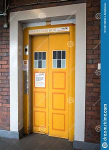 Yellow, Tardis, Style, Graphic, Art, On, The, Doors, To, An