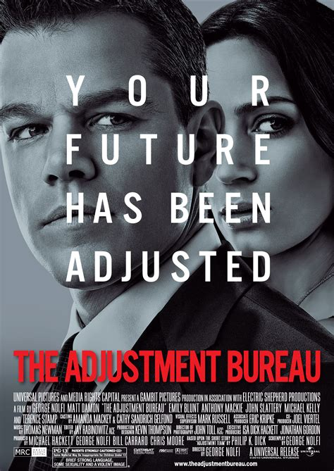 the adjustment bureau the adjustment bureau opens march 4 enter to win passes