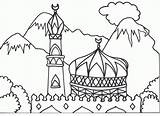 Coloring Mosque Arabic Islamic Colouring Pages Masjid Muslim Alphabet Children Ramadan Drawing Eid Books Hajj Sheet Printable Calligraphy Getcolorings Mosaic sketch template