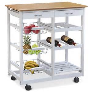 kitchen islands and carts furniture kitchen trolley cart wood effect worktop white frame with lockable castors home ebay