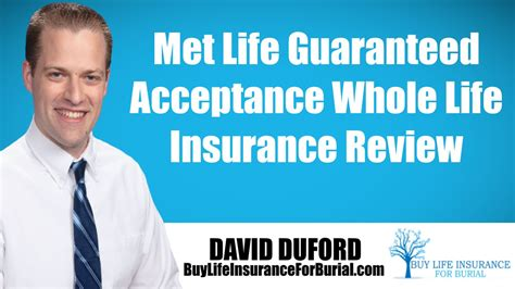 met life guaranteed acceptance  life insurance