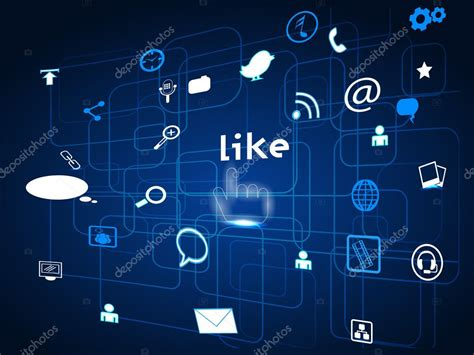 Social networking communication abstract with digital look