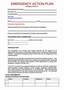 emergency action plan template 15 free wordexcel pdf With emergency plan template for businesses