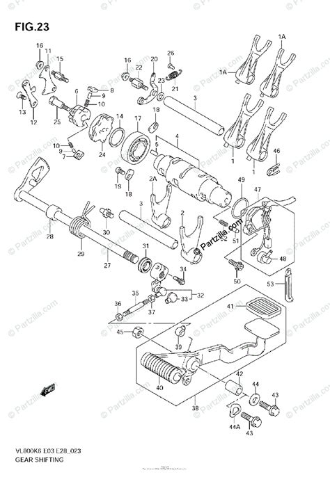 Suzuki Motorcycle Oem Parts Diagram For Gear Shifting