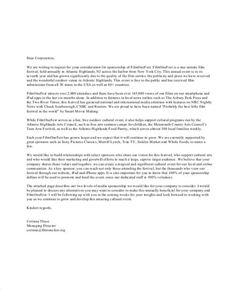 corporate sponsorship letters  wordapple pages