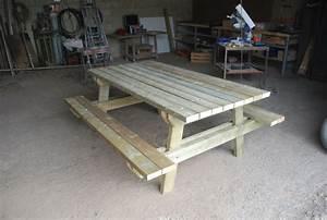Fabriquer Une Table De Jardin. table bois exterieur top bureau table ...