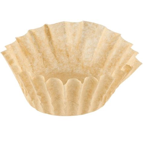"""A great alternative to paper filters. 9 3/4"""" x 4 1/2"""" Unbleached Natural Coffee Filter 12 Cup - 1000/Case"""