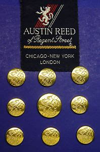 austin reed gold tone english lion blazer jacket buttons