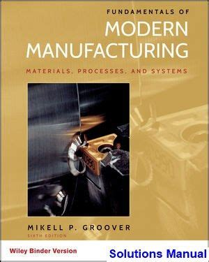 solutions manual  fundamentals  modern manufacturing