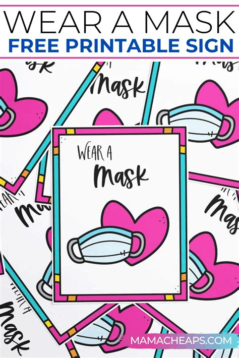 Wear a Mask Sign - Free Printable | Mama Cheaps®