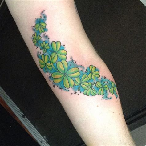 leaf clover tattoo ideas  designs lucky