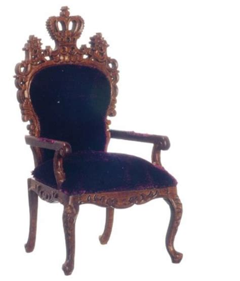 crown royal king chair dollhouse miniature furniture throne king royal arm chair
