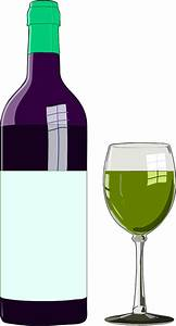 Wine Bottle And Glass Clipart – 101 Clip Art