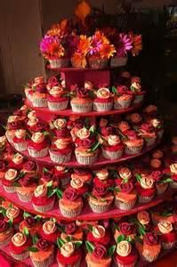 wedding planners boston burgundy orange pink purple yellow cupcakes wedding