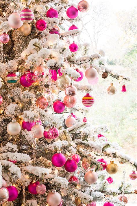 pink christmas tree luella june
