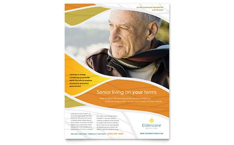 assisted living postcard template word publisher