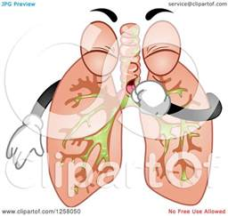 Cartoon Lungs Clip Art Coughing